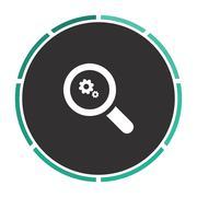 Business Analysis computer symbol Stock Illustration