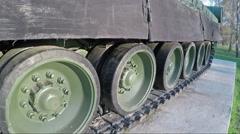 Modern modernized Belarusian tank T 80 - stock footage