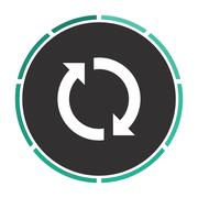 rotation arrows computer symbol - stock illustration