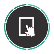 Touch screen computer symbol - stock illustration