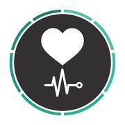 cardiogram computer symbol - stock illustration