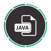 JAVA computer symbol - stock illustration