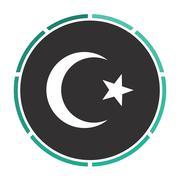 Islam computer symbol - stock illustration