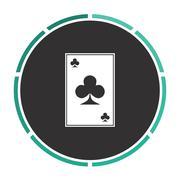 Clubs card computer symbol Stock Illustration