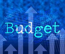 Budget Words Means Accounting Budgeting And Expenditure - stock illustration