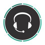 Headphone computer symbol Stock Illustration