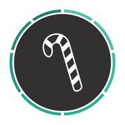 Candy cane computer symbol - stock illustration