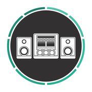 Sound System computer symbol Stock Illustration
