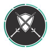heraldry computer symbol - stock illustration