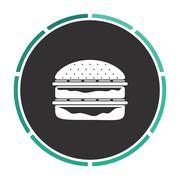 Hamburger computer symbol Stock Illustration