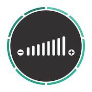 Volume adjustment computer symbol - stock illustration