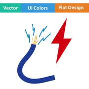 Flat design icon of Wire Stock Illustration