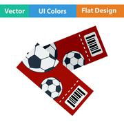 Two football tickets icon Stock Illustration