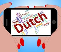 Dutch Language Represents The Netherlands And Foreign - stock illustration