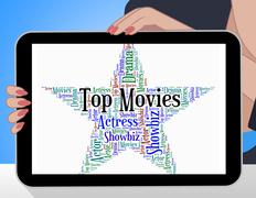 Top Movies Means Motion Picture And Filmography - stock illustration