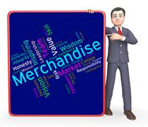 Merchantise Words Indicates Sale Produce And Products - stock illustration