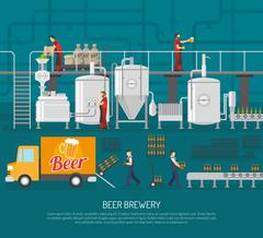 Brewery And Beer Illustration Stock Illustration
