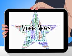 Movie News Indicates Hollywood Movies And Entertainment Piirros