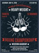 Boxing Professional Championship Poster - stock illustration