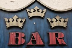 three kings bar sign - stock photo