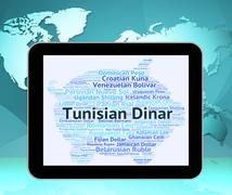 Tunisian Dinar Means Currency Exchange And Broker Stock Illustration