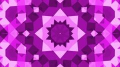 Kaleidoscope bright cube square geometric background  purple loop Stock Footage