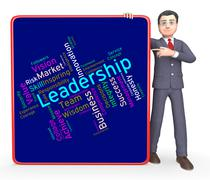 Leadership Words Represents Led Command And Authority - stock illustration