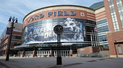Detroit Ford Field Shot From Car Stock Footage