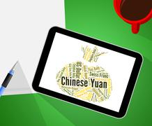 Chinese Yuan Means Forex Trading And Broker - stock illustration