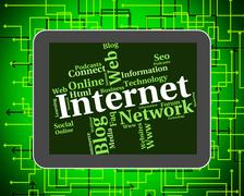 Internet Word Indicates World Wide Web And Searching - stock illustration