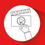 Video production design Stock Illustration