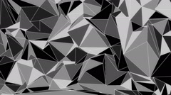 Abstract low poly evolving background Stock Footage