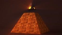 4K All Seeing Eye of God Pyramid Illuminati Symbol 1 Stock Footage
