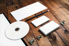 Close-up of blank stationery Stock Photos