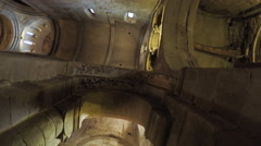 Ceiling of ancient of temple Stock Footage