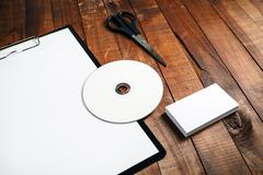 Photo of blank stationery Stock Photos
