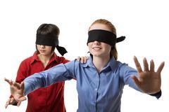 blind leading the blind - stock photo