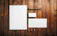 Blank stationery set - stock photo