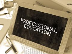 Professional Education Concept Hand Drawn on Chalkboard - stock illustration
