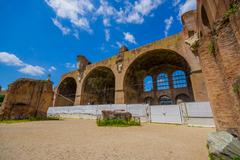 ROME, ITALY - JUNE 13, 2015: Roman Forum at day, ancient city, now ruins in the Kuvituskuvat