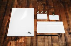 Blank stationery template Stock Photos