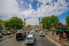 ROME, ITALY - JUNE 13, 2015: View of the Vittorio bridge enter in Rome, two - stock photo