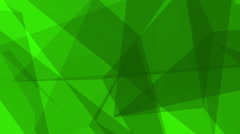 Dark Glass Crystals Polygons Triangles overlapping loop Motion Background Green - stock footage