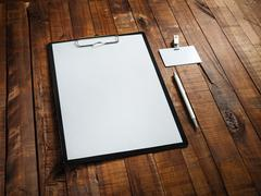 Blank ID template - stock photo