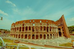 ROME, ITALY - JUNE 13, 2015: Roman Coliseum view, located in the center of the Stock Photos