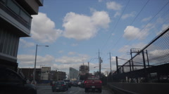 Philadelphia Shot From Car - stock footage