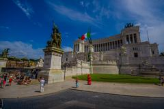 ROME, ITALY - JUNE 13, 2015: Vittorio Emanuele II monument or Altar of - stock photo