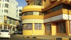 On Board Camera On A Car in Adliya Neighborhood. Bahrain Stock Footage