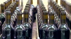 Bottles on a industrial machine. Stock Footage