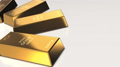 Finance, gold bars Stock Footage